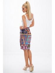 Vzorovaná sukňa nad kolená