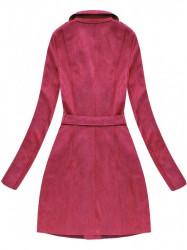 Zamatový kabát 6004BIG, červený