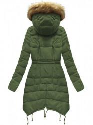 Zelená dámska zimná bunda 3602W