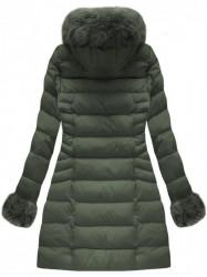 Zelená dámska zimná bunda W751BIG
