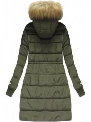 Zimná bunda s kožušinou, army (W721)