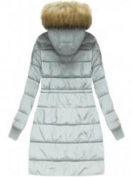 Zimná bunda s kožušinou, strieborná (W721) #1