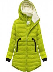 Zimná bunda s lemovanými vreckami 6002B limetková