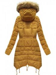 Žltá dámska zimná bunda 3602W