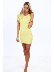 Žlté dámske šaty 08147