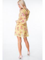 Žlté šaty s kvetmi 6754