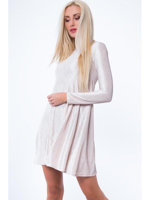 796eae92bab9 Béžové šaty MP62071 - Dámske ležérne šaty - Locca.sk