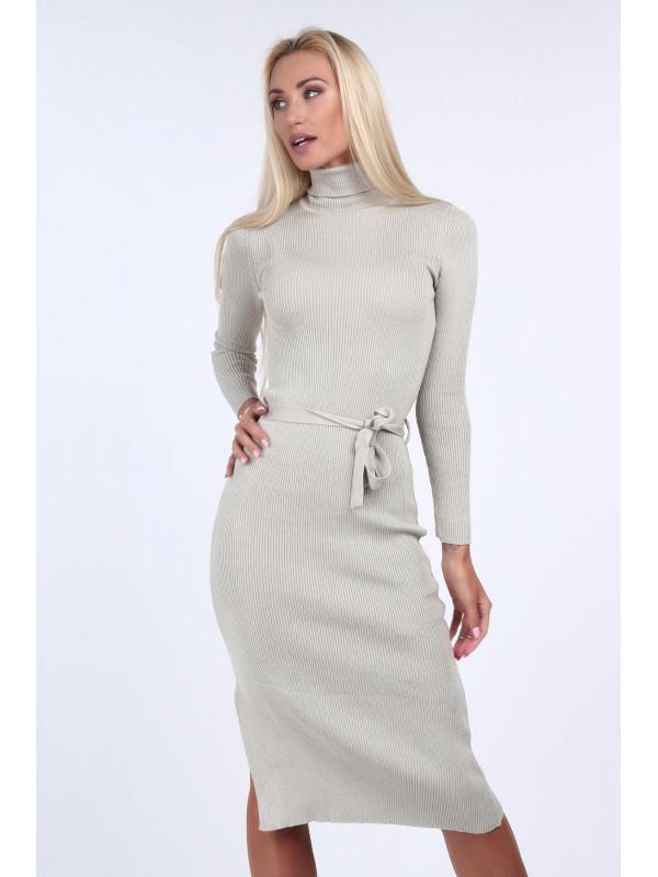 Béžové svetrové šaty 2008 - Dámske úpletové šaty - Locca.sk ddb2a0e066a
