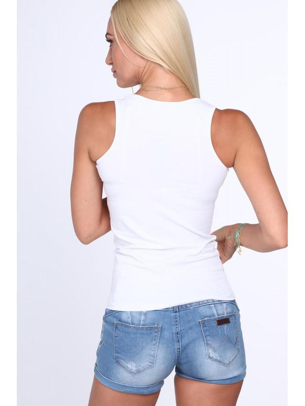 6112f7a1c542 Biele dámske tielko 2308 - Dámske tielka - Locca.sk