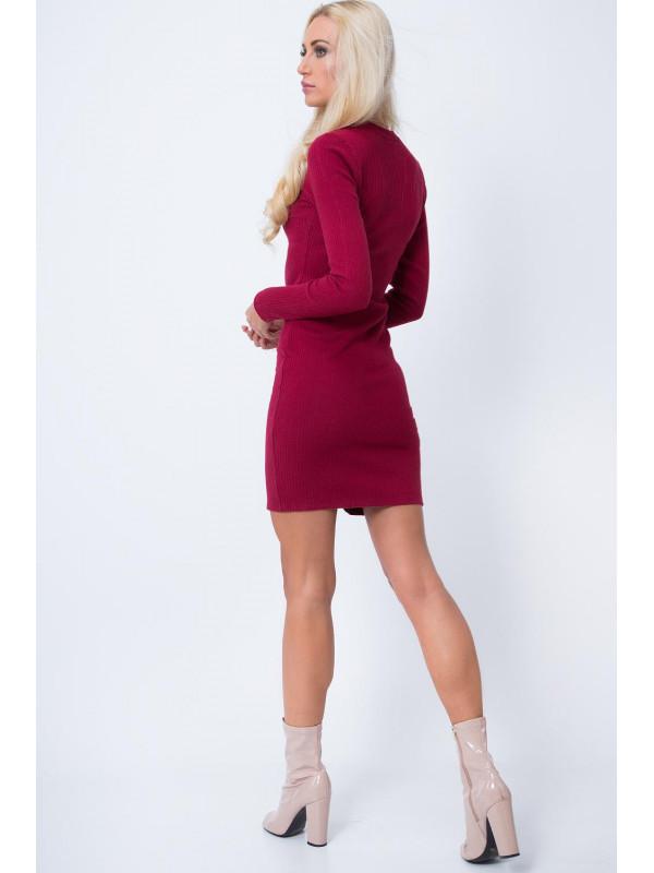 Bordové šaty 16050