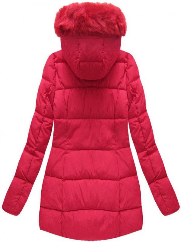Červená dámska zimná bunda B1027-30 - Dámske bundy - Locca.sk 0b2de76b118