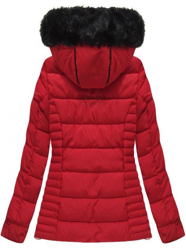 Červená dámska zimná bunda W736