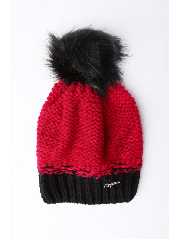 44e505f9a Červená zimná čiapka C6 - Dámske čiapky - Locca.sk