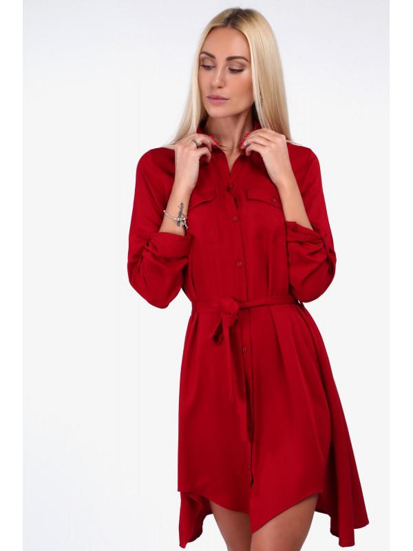 62785232693c Červené dámske košeľové šaty 19590 - Dámske elegantné šaty - Locca.sk