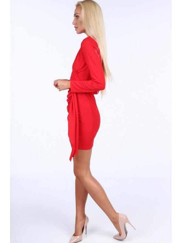 Červené dámske šaty 1817 - Spoločenské šaty krátke - Locca.sk a8a5e2db39d