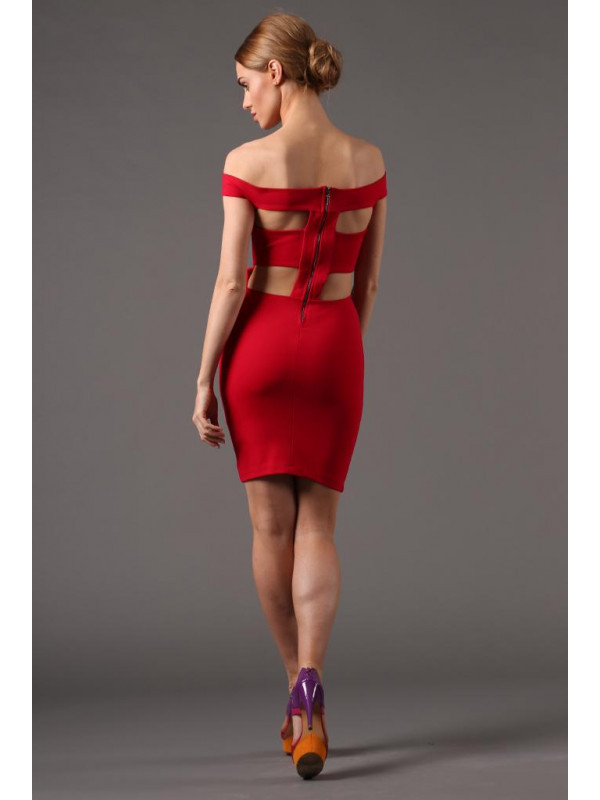 972280bfe3fc Červené extravagantné šaty - Spoločenské šaty krátke - Locca.sk