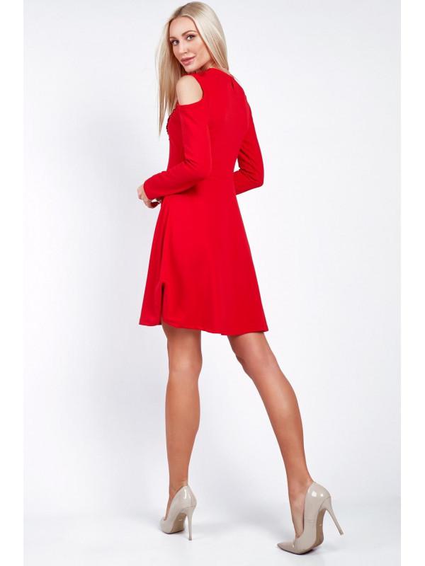 Červené šaty s čipkou 4403dffcbf3