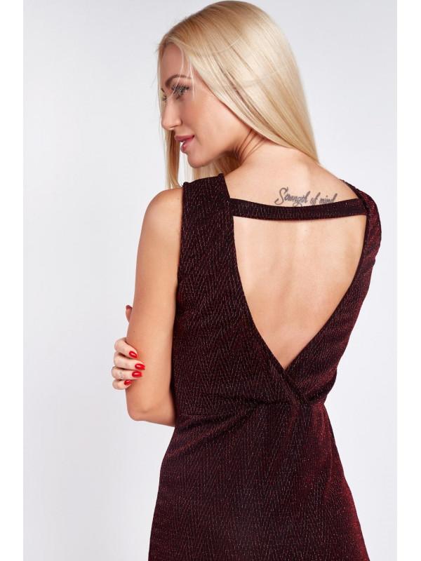 Červené šaty s odhaleným chrbtom 9475 - Spoločenské šaty krátke ... fcfb2c83f7