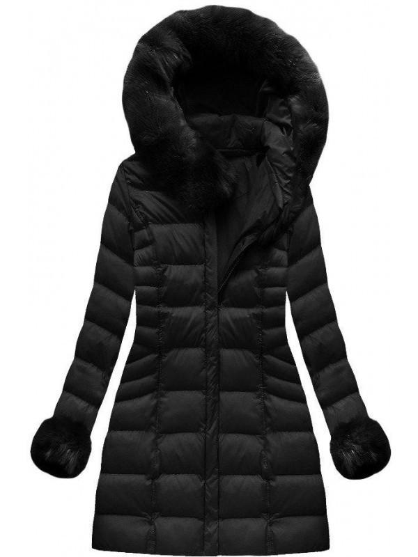 0cebfc73a Čierna dámska zimná bunda W751BIG - Dámske bundy - Locca.sk