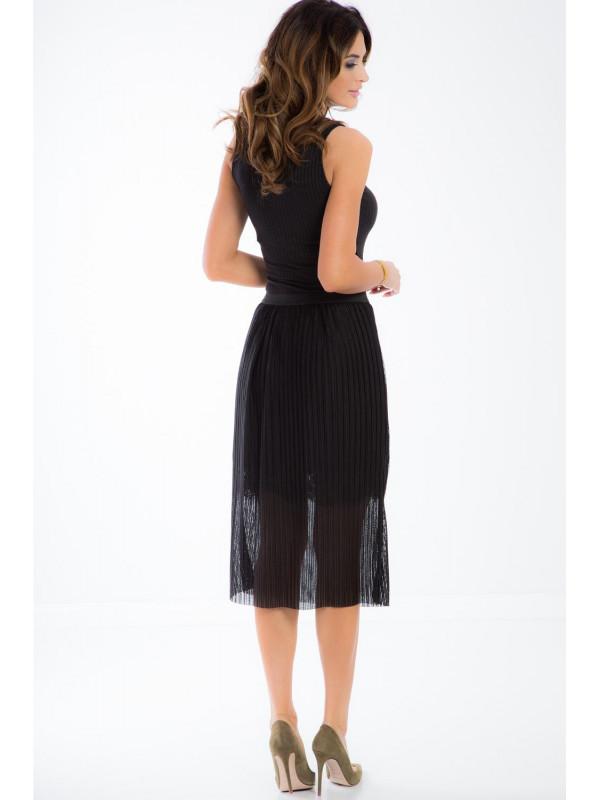 6ce656c558a2 Čierna tylová sukňa - Elegantné sukne - Locca.sk