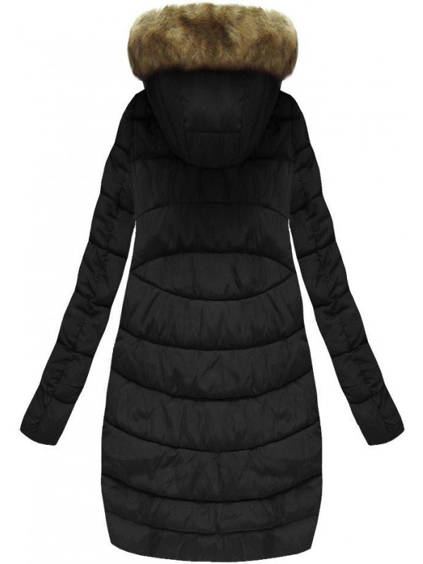 Čierna zimná bunda s kapucňou B3577 - Dámske bundy - Locca.sk 0283cff7b20