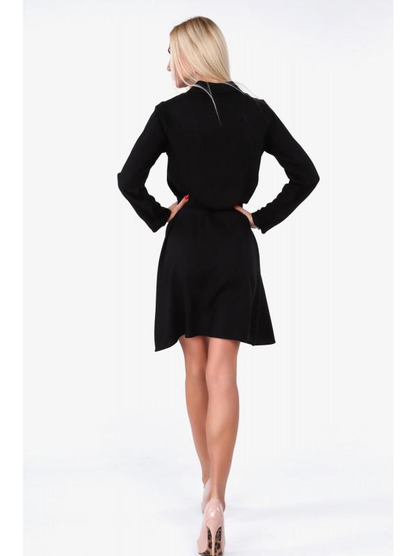 50c9fc8790ba Čierne dámske košeľové šaty 19590 - Dámske elegantné šaty - Locca.sk