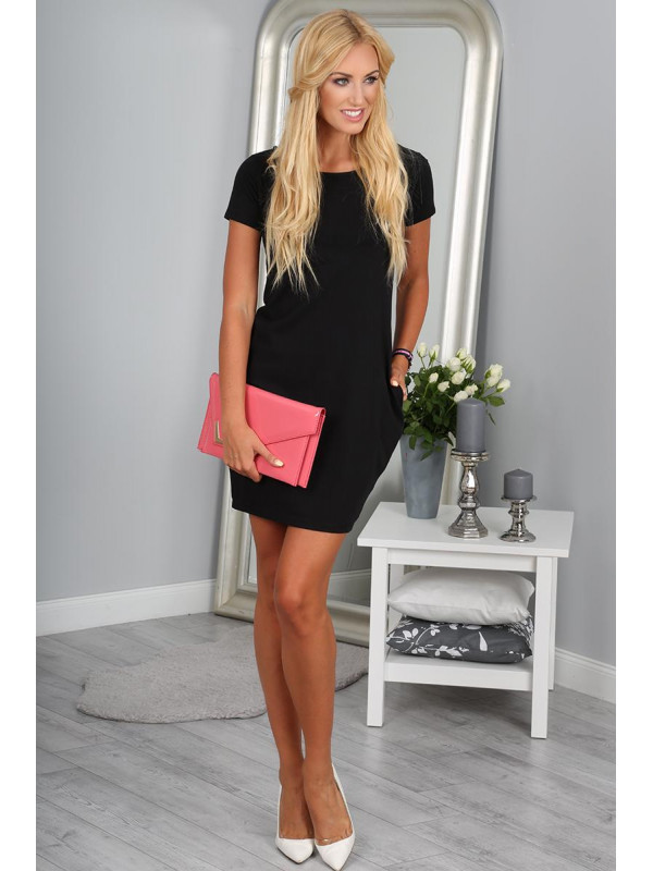 Čierne šaty 9967 - Dámske elegantné šaty - Locca.sk 619cbb1f0f1