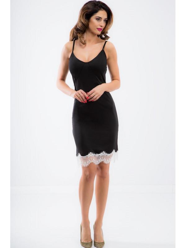d3410a6166b2 Čierne šaty s čipkou - Dámske ležérne šaty - Locca.sk