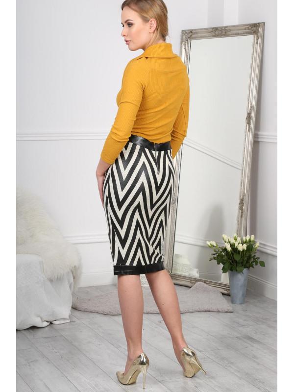 54289f1471f1 Čiernobiela sukňa - Elegantné sukne - Locca.sk