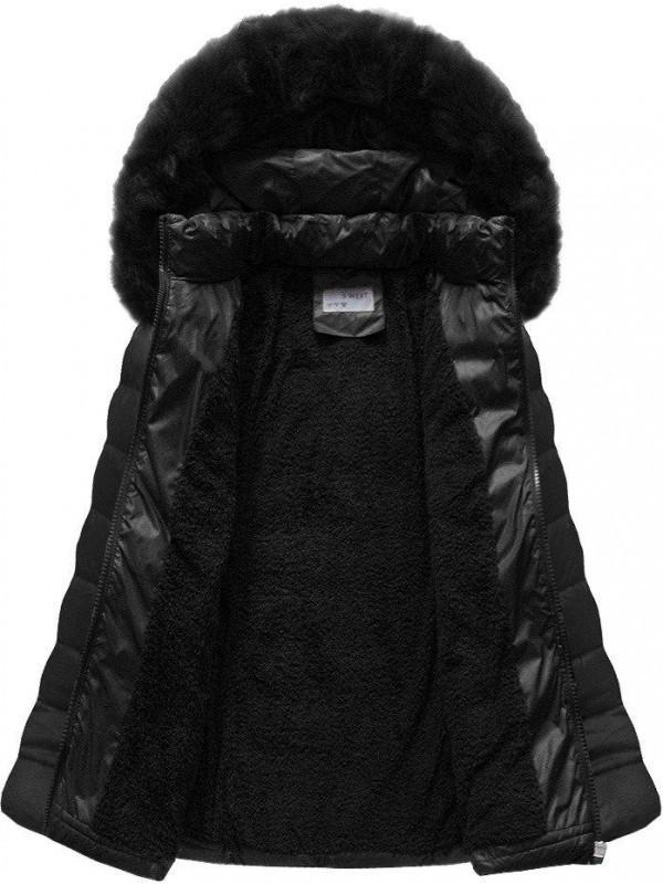 Dámska čierna zimná bunda B1036-30 - Dámske bundy - Locca.sk 89ef30ed30e