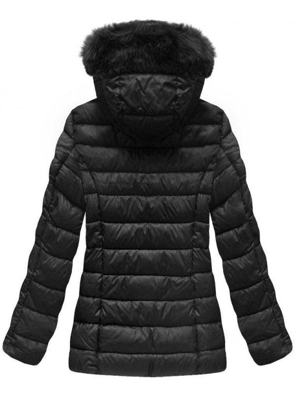 44914dc4cf89 Dámska čierna zimná bunda B1036-30 - Dámske bundy - Locca.sk