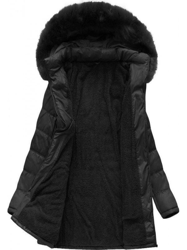 29135c9d5 Dámska dlhá zimná bunda B1023-30, čierna - Dámske bundy - Locca.sk