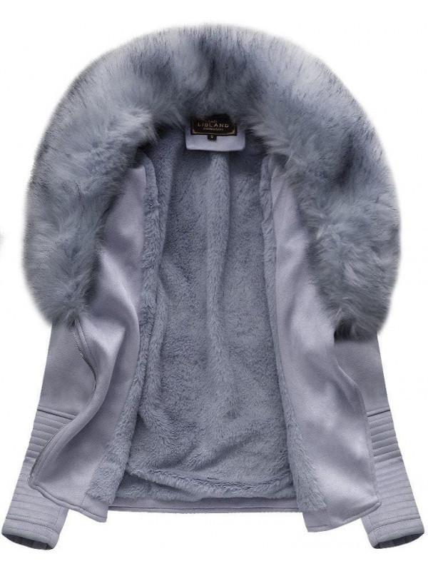 Dámska semišová bunda s kožúškom 6501 cb0cd17bac9