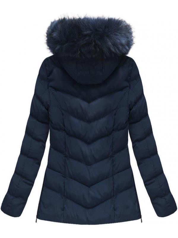 Dámska zimná bunda W583, modrá
