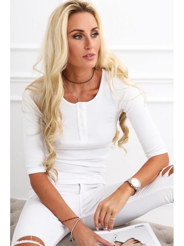 Dámske 3/4 tričko 20860, biele
