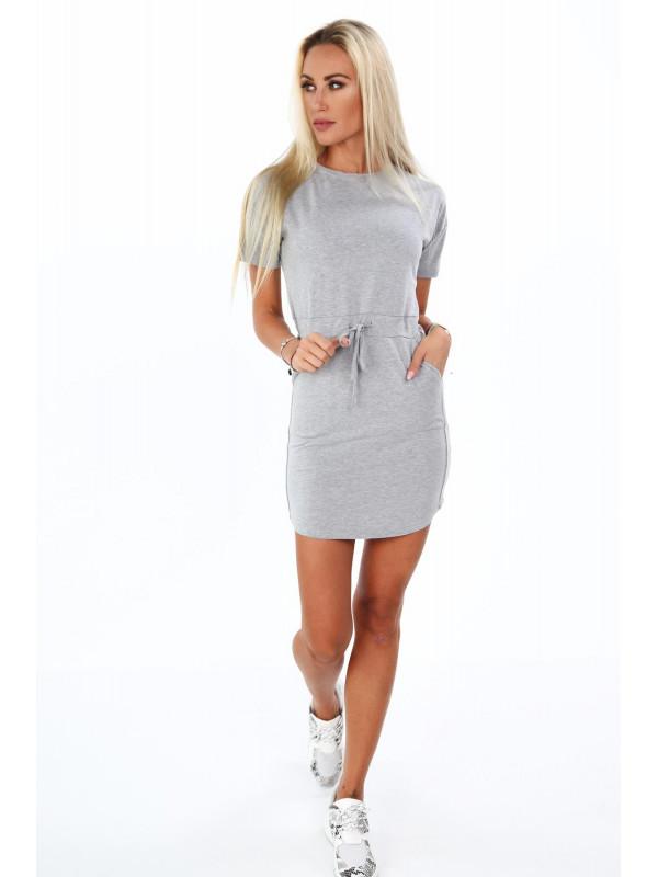 Dámske bavlnené šaty 4191, sivé