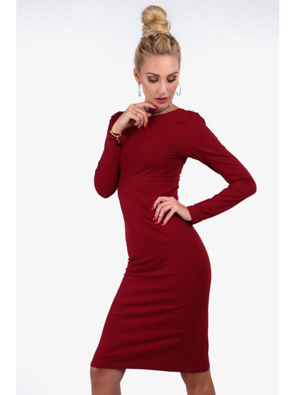 286ee8b653a4 Dámske bordové midi šaty 40550 - Spoločenské šaty krátke - Locca.sk