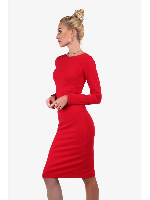 46477aa13052 Dámske červené midi šaty 40550 - Spoločenské šaty krátke - Locca.sk