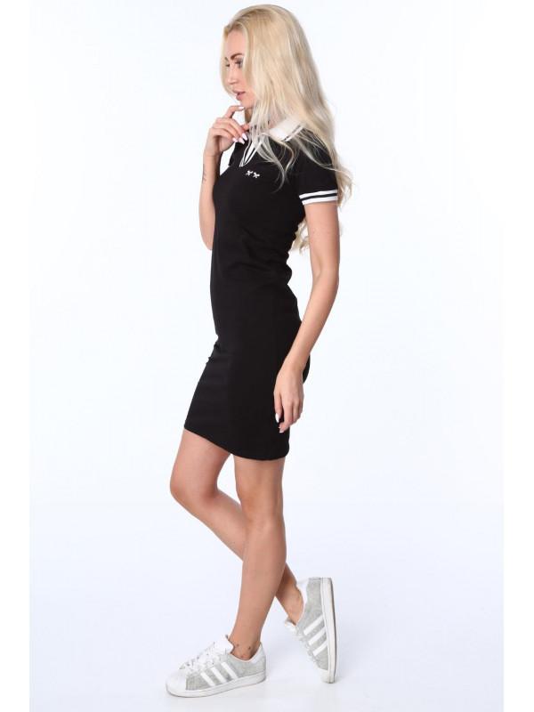 6a972907e84a Dámske čierne polo šaty 3810 - Dámske športové šaty - Locca.sk
