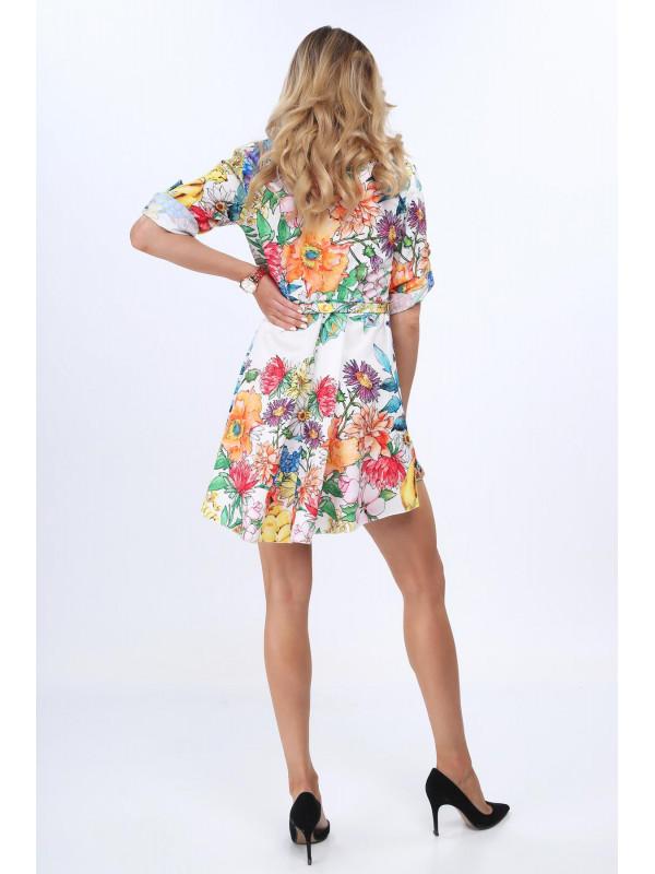 Dámske farebné šaty s kvetmi 6852 - Dámske letné šaty - Locca.sk cc4d4f124ca