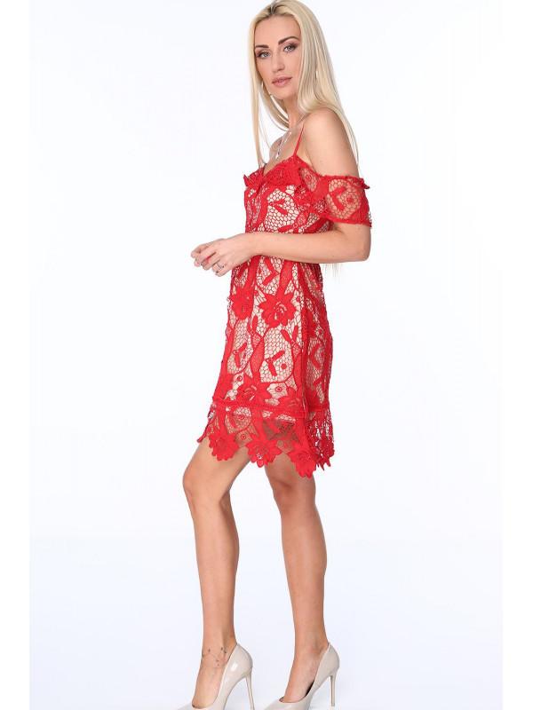 Dámske koktejlové šaty s čipkou ZZ313 804d6b6d7b2
