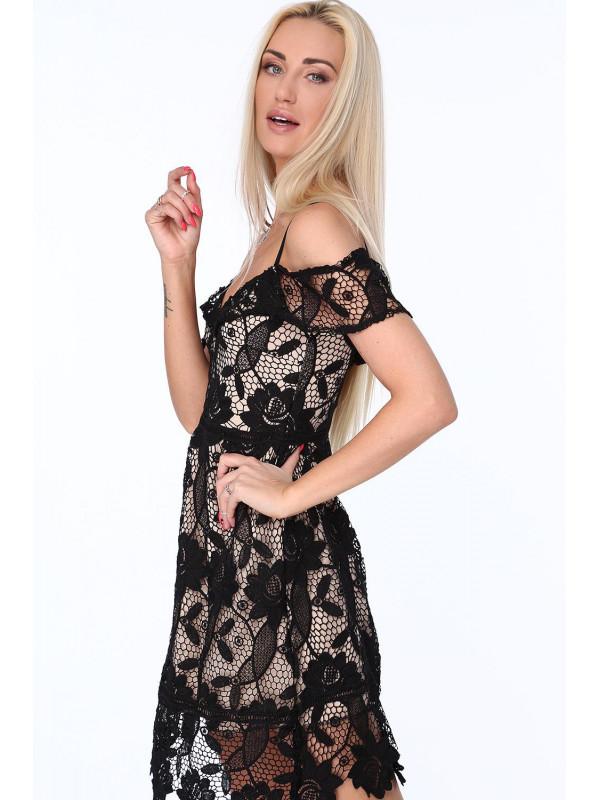 217d27e158 Dámske koktejlové šaty s čipkou ZZ313