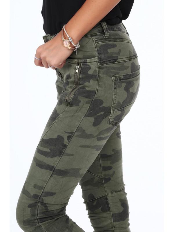 d8846a4c84b5 Dámske maskáčové nohavice 21210 - Dámske elastické nohavice - Locca.sk