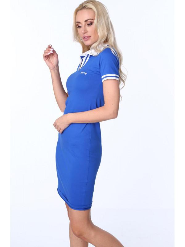 09b23e5bd9c5 Dámske modré polo šaty 3810 - Dámske športové šaty - Locca.sk