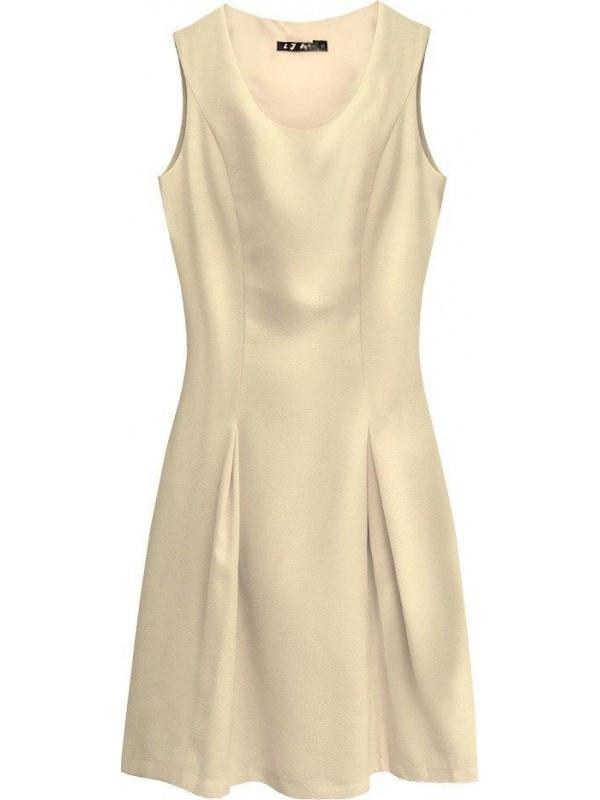 Dámske rozšírené šaty 6111 béžové