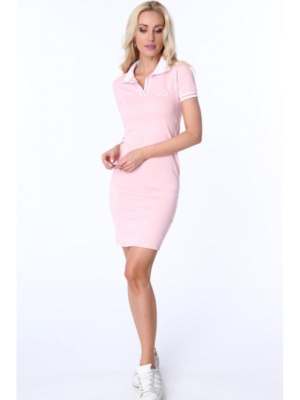 47d3ae6f8326 Dámske ružové polo šaty 3810 - Dámske športové šaty - Locca.sk