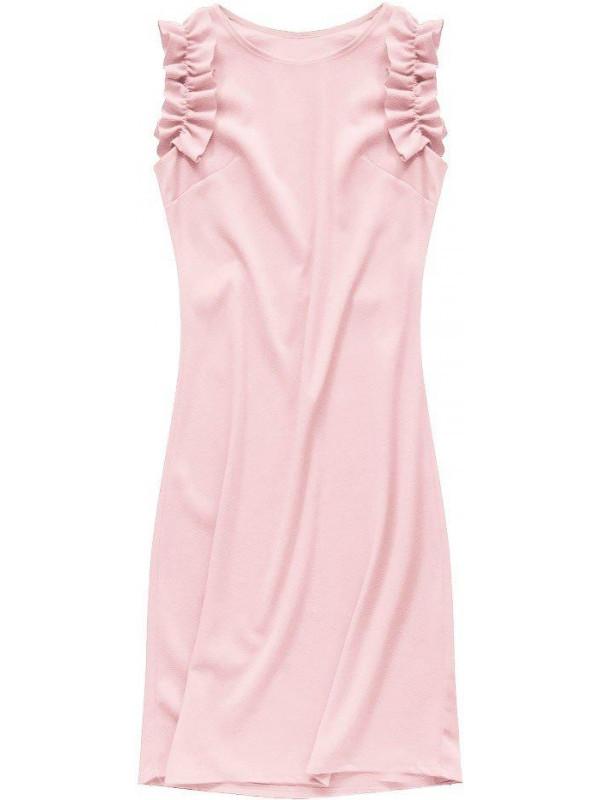 aa3b8bf20a8c Dámske ružové šaty 107ART - Dámske ležérne šaty - Locca.sk