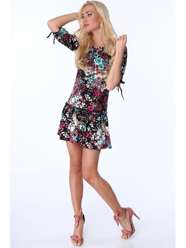 Dámske šaty s kvetmi 2887 c338f67ae32
