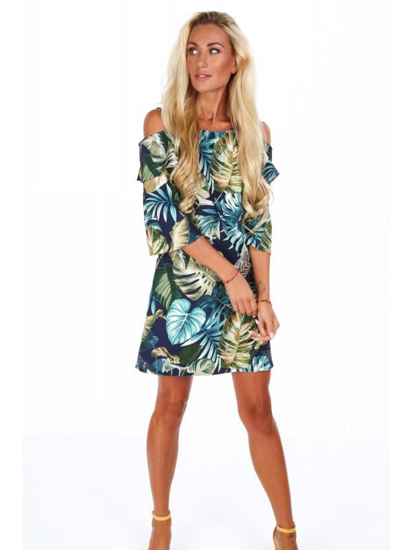 6d36f7ca2624 Dámske šaty s rastlinným motívom 1713