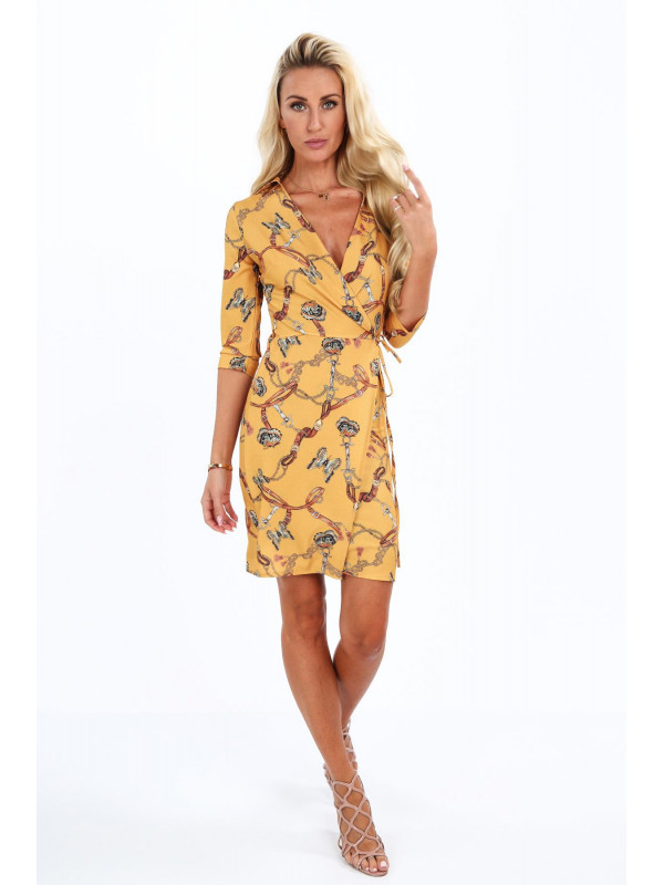 40aa275f54b0 Dámske šaty s viazaním v páse 2085